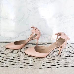 J Crew Pink Bow Heels